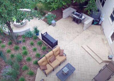 new patio installation
